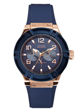 W0571L1 Jet Setter 39mm Trendy Ladies Watch With Blue Rubber Strap