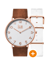 CHL.A.WHI.36.N.15 Ice-city Whitechapel 36mm 36mm Quartz Watch with extra Strap