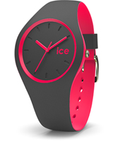 DUO.APK.U.S.16 Ice-Duo 41mm Anthracite & Pink Silicone Watch