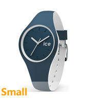 DUO.ATL.S.S.16 Ice-Duo 34mm Blue & White Silicone Watch