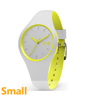 DUO.GYW.S.S.16 Ice-Duo 34mm Light Grey & Yellow Silicone Watch