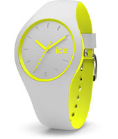 DUO.GYW.U.S.16 Ice-Duo 41mm Light Grey & Yellow Silicone Watch
