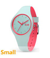 DUO.MCO.S.S.16 Ice-Duo 34mm Mint Green & Pink Silicone Watch