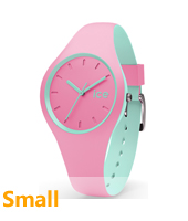 DUO.PMT.S.S.16 Ice-Duo 34mm Pink & Mint Green Silicone Watch