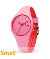 DUO.PRD.S.S.16 Ice-Duo 34mm Pink & Red Silicone Watch