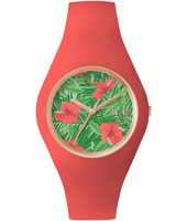ICE.FL.ALO.U.S.15 Ice-Flower Aloha 41mm Rose gold watch with pink silicone strap