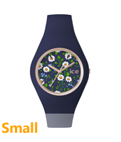 ICE.FL.DAI.S.S.15 Ice Flower Daisy Small 34mm Rose gold ladies watch with blue rubber strap