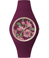 ICE.FL.IDY.U.S.15 Ice-Flower Idyll 41mm Rose gold watch with purple silicone strap