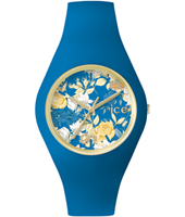 ICE.FL.MYS.U.S.15 Ice-Flower Mystic 41mm Gold watch with blue silicone strap