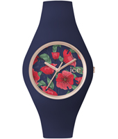 ICE.FL.SED.U.S.15 Ice-Flower Seduction 41mm Rose gold watch with dark blue silicone strap