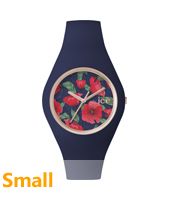 ICE.FL.SED.S.S.15 Ice Flower Seduction Small 34mm Rose gold watch with dark blue silicone strap
