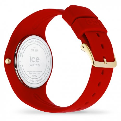 Red & Gold Silicone Watch size Medium Collection Automne-Hiver Ice-Watch