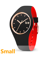 007226 Ice-Loulou 34mm Black & rorse gold silicone watch