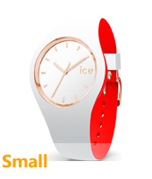 007230 Ice-Loulou 34mm White & rose gold silicone watch