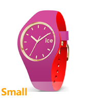 007233 Ice-Loulou 34mm Purple & gold silicone watch