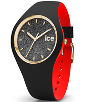 007237 Ice-Loulou 41mm Black & gold silicone watch