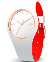 007240 Ice-Loulou 41mm White & rose gold silicone watch