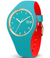007242 Ice-Loulou 41mm Turquoise & gold silicone watch