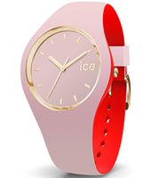 007244 Ice-Loulou 41mm Pink & gold silicone watch