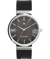 JJ708 708 New Line 39mm Silver & black design watch with date