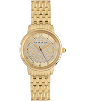 JW004 Mathilde 34mm Gold ladies quartz watch with patterned dial