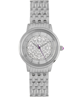 JW005 Mathilde 34mm Silver ladies quartz watch with patterned dial