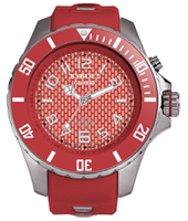 FW.48-004 Aurora Red 48mm Large red quartz diver