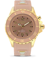 KG.40-010 Gold Sand 40mm Midsize gold & old pink quartz diver