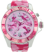 CS.48-005 Pink Camo 48mm Large camouflage quartz diver