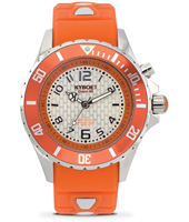 KY.40-045 Silver Blast 40mm Midsize orange quartz diver