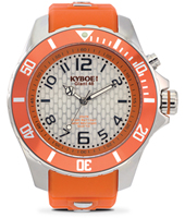 KY.48-045 Silver Blast 48mm Large orange quartz diver