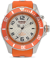 KY.55-045 Silver Blast 55mm XL orange quartz diver