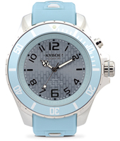 KY.48-043 Silver Sky 48mm Large light blue quartz diver
