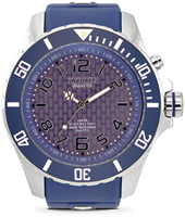KY.55-037 Silver Twilight 55mm XL blue quartz diver