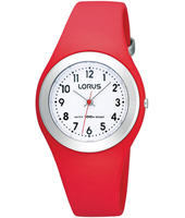 R2301GX9   31mm Red & Silver Children's Watch on Silicone Strap