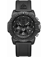 A.3081.BO Navy Seal Colormark 44mm All Black Carbon Dive Chrono, Rubber Strap