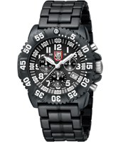 A.3082 Navy Seal Colormark  44mm Black & White Carbon Dive Chrono