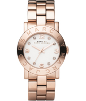 MBM3077 Amy  36mm Rose Gold & White Ladies Watch with Crystal Indexes