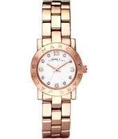 MBM3078 Amy Mini 26mm Rose Gold & White Ladies Watch with Crystal Indexes