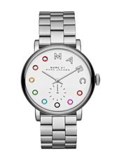 MBM3420 Baker Dexter 36.50mm Silver ladies watch with colourful indexes