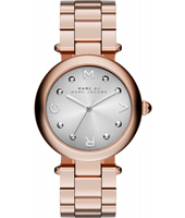MJ3449 Dotty 34mm Rose gold ladies watch with silver dial and steel bracelet