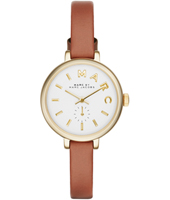 MBM1351 Sally 28mm Gold ladies Watch With Brown Leather Strap