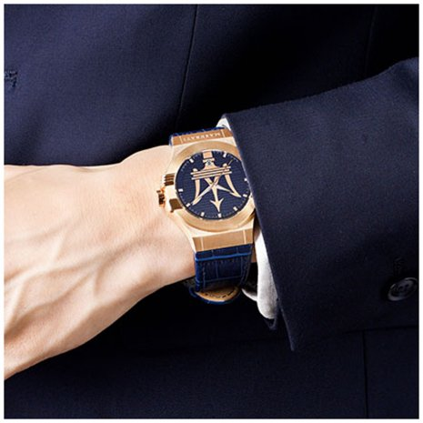 Gents Quartz watch with Trident Logo Collection Printemps-Eté Maserati