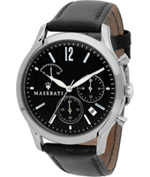 R8871625002 Tradizione 42mm Silver & black gents chrono watch with date