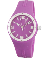 MD1006RB-06VI MD1006 Mirage  41.50mm Purple & white silicone watch