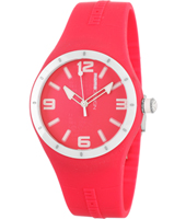 MD1006RB-07RD MD1006 Mirage  41.50mm Hot pink & white silicone watch