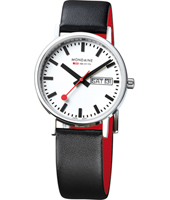 A667.30314.11SET Classic Gents 36mm Swiss Railway Watch with DayDate and Extra Milanaise Bracelet