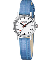 A658.30301.11SBD Evo Lady 26mm Small Swiss Railway Watch with Blue Strap