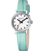 A658.30301.11SBF Evo Lady 26mm Small Swiss Railway Watch with Turquoise Strap