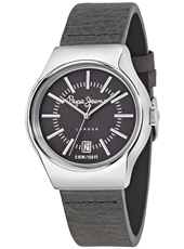 R2351113001 Joey 40mm Silver Gent's Watch With Grey Leather Strap